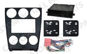 Black Double Din Dash Kit Radio Stereo Wiring Harness Install Fitted For Mazda 6