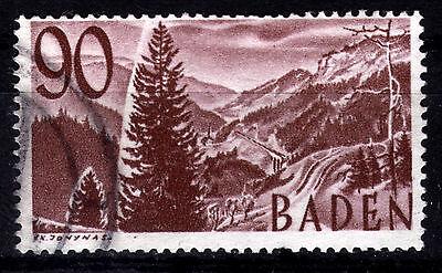 FZ Baden 37, O, 90 Pf. Freimarken 3. Ausgabe