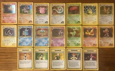 Complete Holo Gym Heroes Set Pokemon Card Rare 1-19 (Played) for sale  Shipping to Nigeria