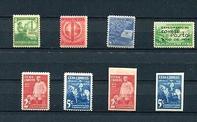 1940.REP. CUBA. ANNO COMPLETO 1940 .NUEVO CON FIJASELLOS.CATALOGO