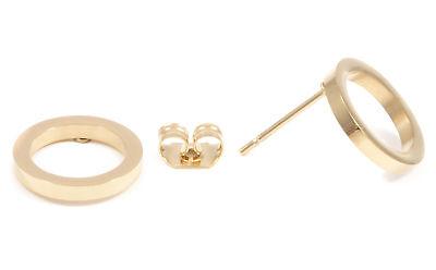 Offen Kreis Ohrstecker in Gold Kleine Runde Ohrringe Edelstahlschmuck (Offene Kreis Ohrringe)