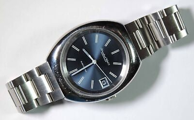 IWC International Watch Co. Electronic F300Hz Blue Dial Stainless Steel Watch