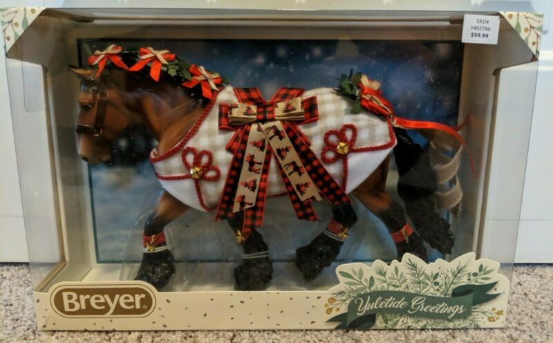 Breyer Horses Yuletide Greetings 2020 Christmas Holiday Shire Draft Shannondell