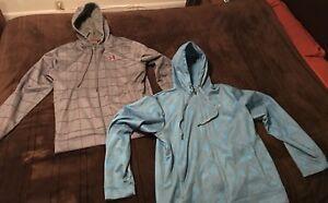 Under armour zip up hoodies set of 2, Men's XL