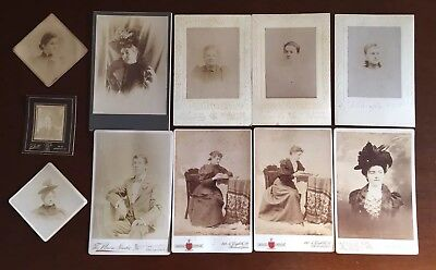 Vintage Lot  11 Old Antique Portrait Photographs Fowler Photography Philadelphia