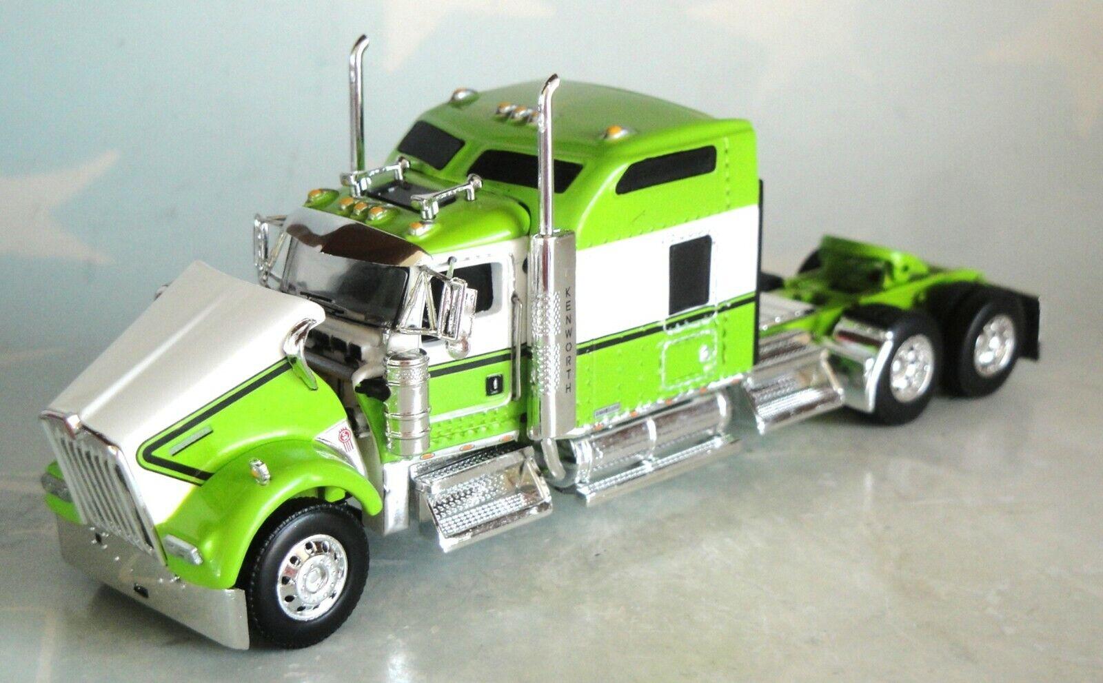 "DCP GREEN WHITE KW W900 86"" SLEEPER CAB 60-0789"