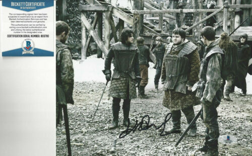 Game of Thrones John Bradley (Samwell Tarley) Autographed 8x10 great Beckett