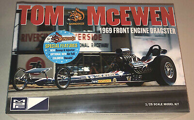 MPC Tom McEwen 1969 Front Engine Dragster 1:25 scale model car kit new 900