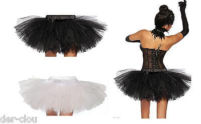 TUTU Petticoat Tüll Rock Ballett Black Swan Schwarz  weiß oder schwarz Tülltock
