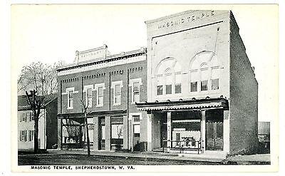 Shepherdstown WV -MASONIC TEMPLE BUILDING- Postcard West Virginia