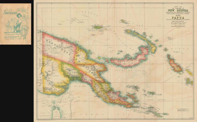1930 Robinson Map of New Guniea under Australian Mandate