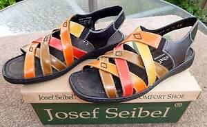 JOSEF SEIBEL MULTICOLOUR SANDAL SIZE 38 BRAND NEW IN BOX Carnegie Glen Eira Area Preview