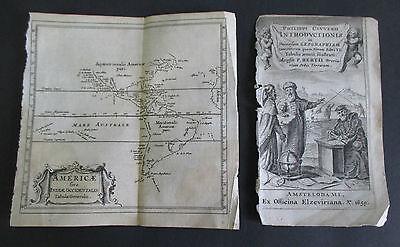 1659 Cluver Map AMERICAE (Americas & West Indies)