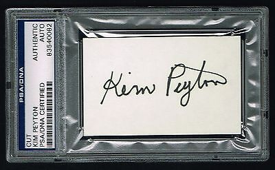 Kim Peyton  D 1986  Signed Autograph 2X3 5 Cut Olympic Gold Medalist Psa Slabbed