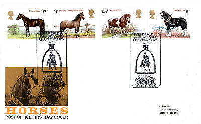 5 JULY 1978 SHIRE HORSES POST OFFICE FIRST DAY COVER DRESSAGE CHAMPIONSHIP SHS