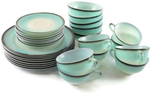 Hazel Atlas Turquoise Ovide Platonite Informal 29 pc Dinnerware Set