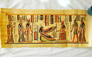 Egyptian-Papyrus-Paper-Painting-Maat-Isis-Horus-Nefertari-High-Quality-32-X-13