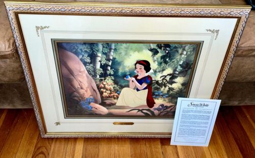 Disney Cel Snow White Lost Bird Rare Publishers Proof Edition Art Cell