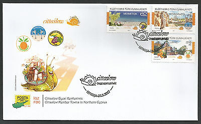 North Cyprus Stamps 2017 Cittaslow Member Towns in North Cyprus Official FDC NEW