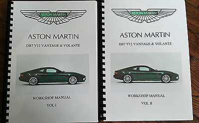 ASTON MARTIN DB7 V12 VANTAGE  & VOLANTE WORKSHOP  MANUAL 99-03 REPRINTED FULL