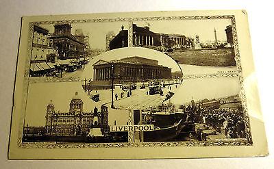 B&W Real Photo Postcard View in Liverpool, England, United Kingdom 1918 Postmark