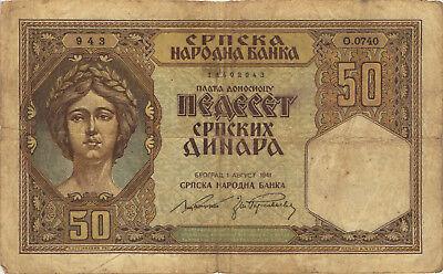 Ro.604 Besetzung Serbien 50 Dinara 1941 (4)