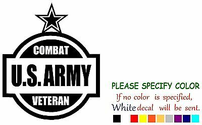 Us Army Combat Veteran Funny Vinyl Decal Sticker Car Window Laptop Tablet 7