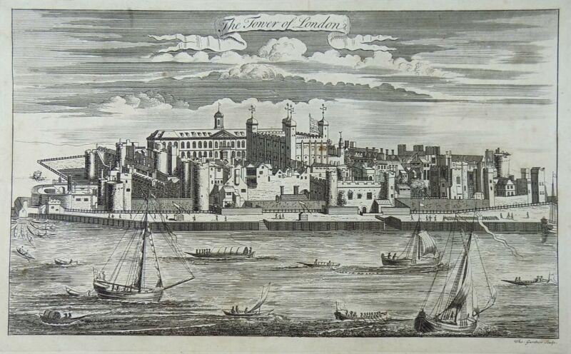 c1700 Thomas Gardner - The Tower of London - Large folio copper engraving