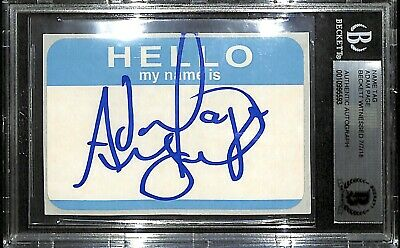 Adam Page Signed Name Tag BAS Beckett COA New Japan Pro Wrestling All Elite AEW - $49.99