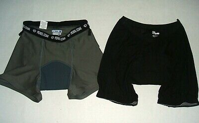 Fox Pearl Izumi Padded Cycling Liner Shorts Lot Men's S Trail Mountain Biking