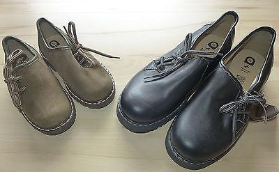 Kinder Trachtenschuhe Haferlschuhe Leder schwarz o. khaki braun NEU mit (Schwarze Schuhe Kinder)