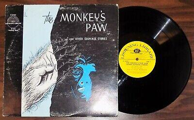 1950's Halloween Music (Vintage spoken word lp THE MONKEY'S PAW Suspense Stories 16 RPM Halloween)