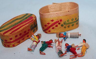 Dolls worry dolls Guatemala wooden box set hand made