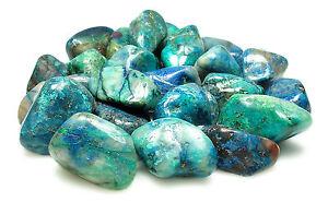 TUMBLED - (1) LG/XL QUANTUM QUATTRO SILICA CHRYSOCOLLA Crystal w/Card- Healing
