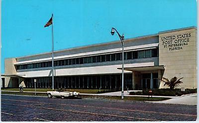 ST PETERSBURG, FL Florida   Central Plaza POST OFFICE  1960  T-BIRD Car Postcard