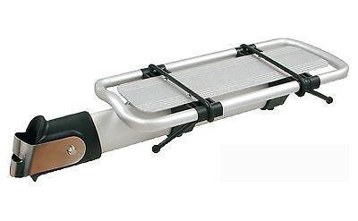 Transportin Porta Bultos BETO de Aluminio Plata Doble Elastico de Bicicleta 6000