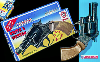 LONE STAR ☆ WICKE ☆ SMITH & WESSON 45er PISTOLE  ☆ OVP TOY CAP GUN REVOLVER ☆