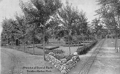 Michigan Trolley (Benton Harbor Michigan~Trolley Triangle Tracks~House of David~Postcard c1910)