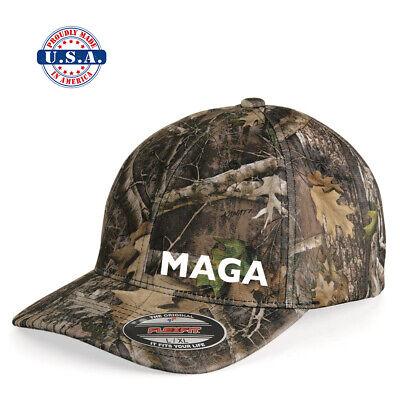 MAGA MAKE AMERICA GREAT AGAIN CAMO CAP TRUMP 2020 Flex Fit HAT  Camo Flex Cap