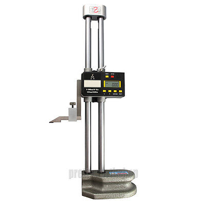 Digital Lcd Display Electronic Dual Beam Height Gage 0-300mm 12 High Precision