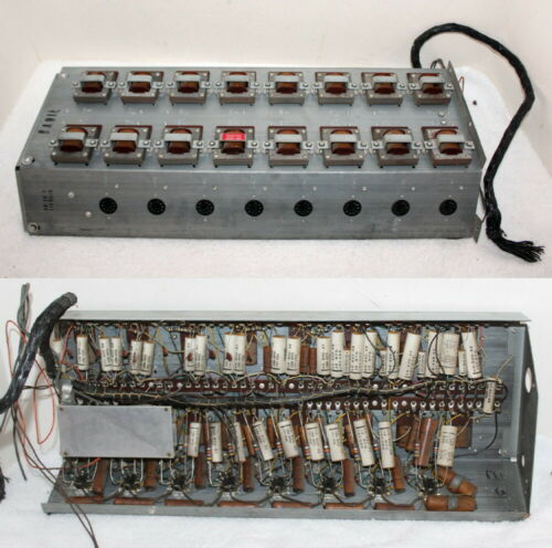Hammond S6 Vibrato Tuning Sound Board ~ 16 Transformers & 8- 9 Pin Tube Sockets