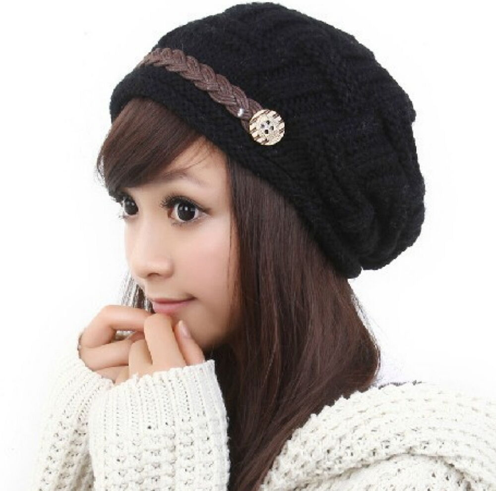 Bubble Knit Slouchy Baggy Beanie Oversize Winter Hat Ski Slouchy Cap Skull Women Clothing, Shoes & Accessories