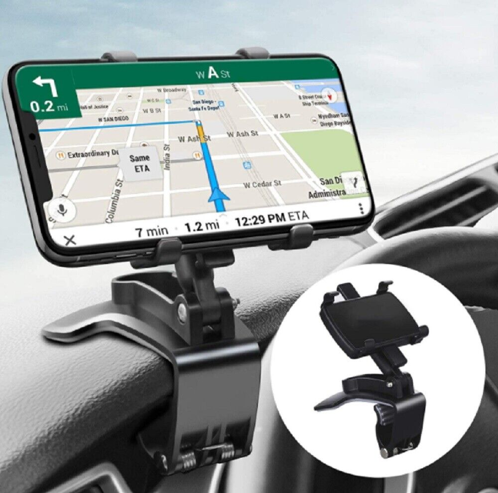 Car Phone Mount for Car 360 Degree Rotation Dashboard Clip Mount Car Phone Stand Cell Phone Accessories