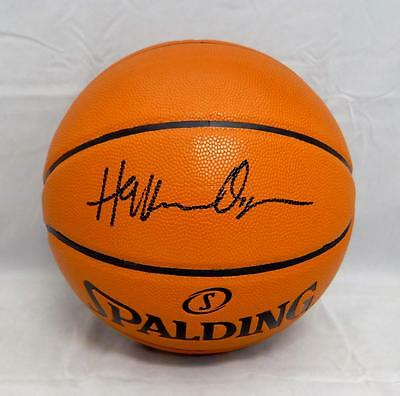 3777d344cddc Hakeem Olajuwon Autographed  Black Official NBA Spalding Basketball- JSA W  Auth