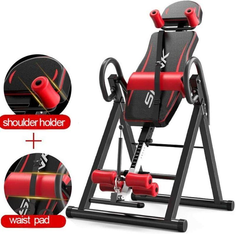 Heavy Duty Foldable Gravity Inversion Table Back Therapy Fitness Reflexology