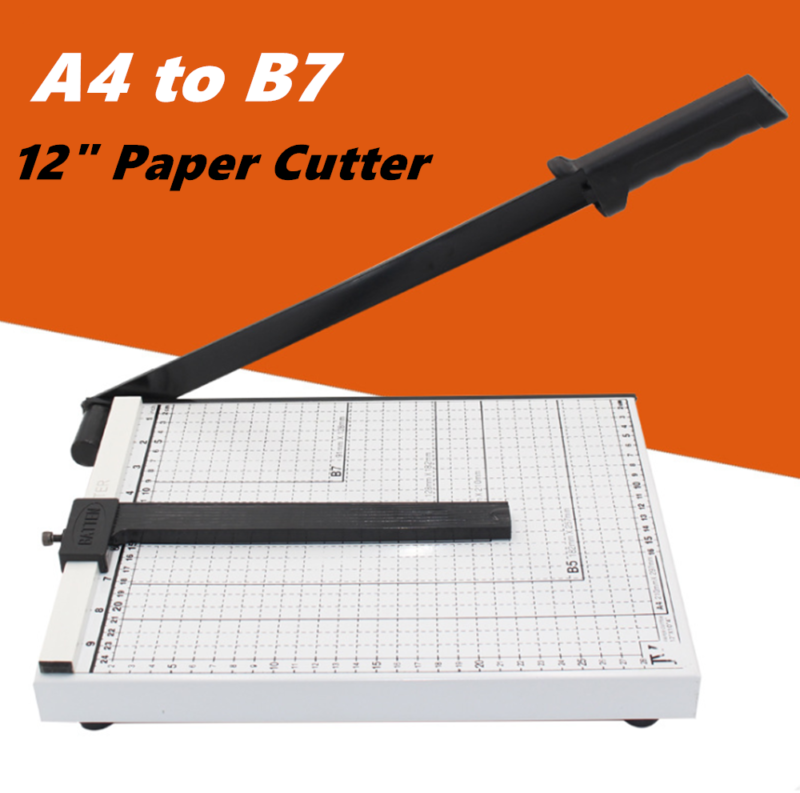 Paper Cutter A4-B7 Metal Base Guillotine Page Trimmer Blade