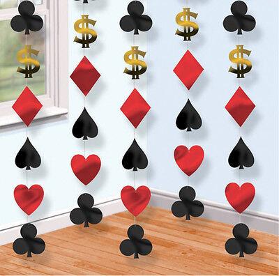 de Faden Dekorationen Karten Vegas Poker Spielkarten (Party Hängende Dekorationen)