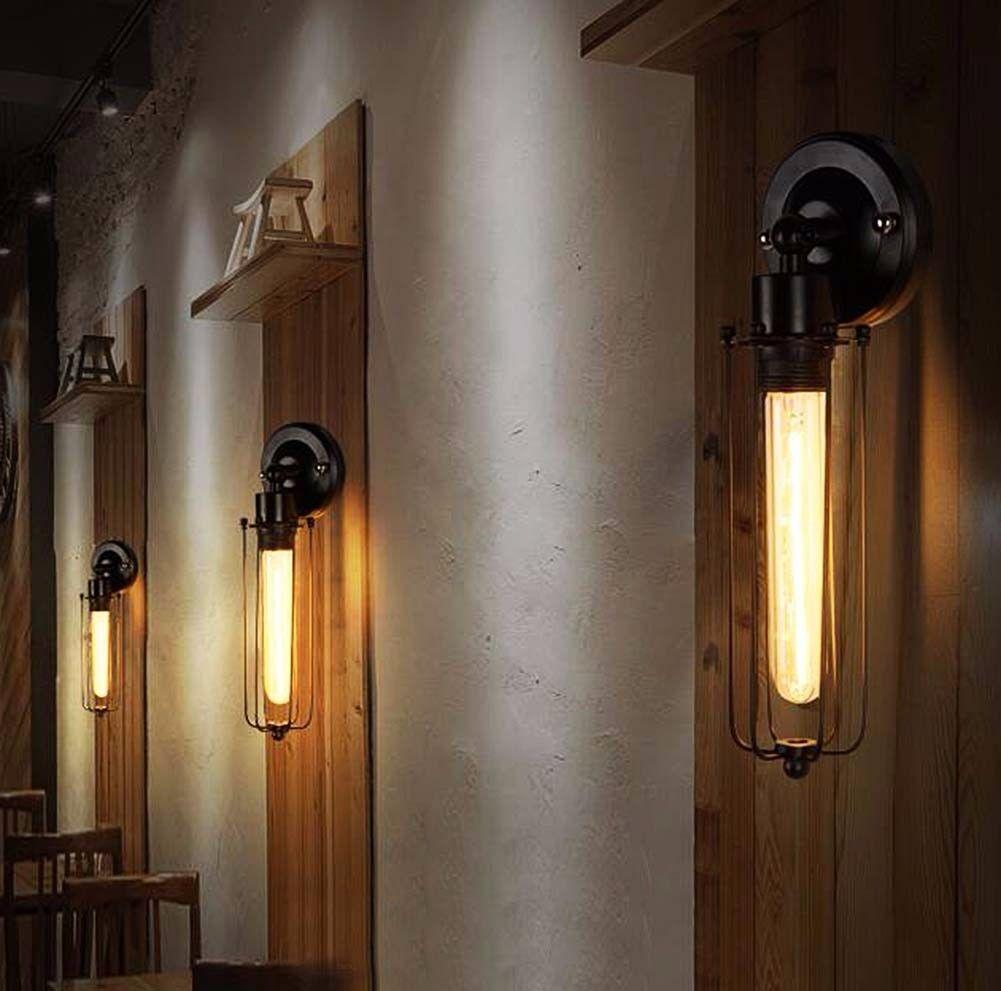 Rustic Wall Sconces Indoor : Modern Industrial Vintage Retro Rustic Sconce Brass Indoor Glass Wall Lamp Light eBay