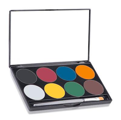 Mehron Paradise Palette Basic Make Up Set Kit 8 Colors - Basic Make Up
