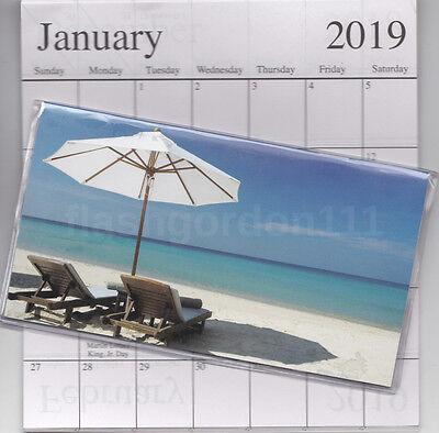 1 2018-2019 Relaxing Beach 2 Two Year Planner Monthly Pocket Calendar Datebook